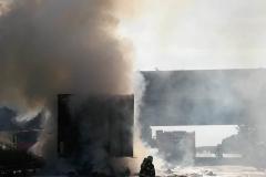 A2 Niemcy - spłonęła polska ciężarówka z wytłaczankami 2