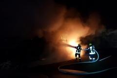 Niemcy – ciężarówka z Polski spłonęła doszczętnie na A7 1