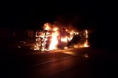 Niemcy – ciężarówka z Polski spłonęła doszczętnie na A7 10