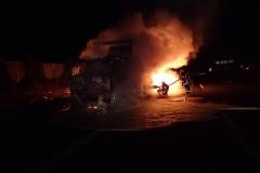 Niemcy – ciężarówka z Polski spłonęła doszczętnie na A7 2