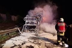 Niemcy – ciężarówka z Polski spłonęła doszczętnie na A7 3