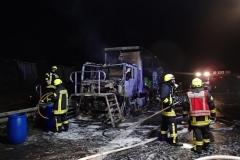 Niemcy – ciężarówka z Polski spłonęła doszczętnie na A7 4
