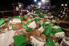 Niemcy – ciężarówka z Polski spłonęła doszczętnie na A7 5