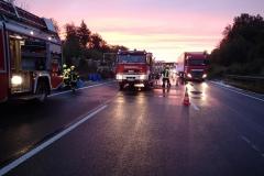 Niemcy – ciężarówka z Polski spłonęła doszczętnie na A7 7