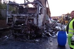 Niemcy – ciężarówka z Polski spłonęła doszczętnie na A7 9