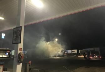 Niemcy – Kierowca z Polski znajdował się kabinie gdy wybuchł pożar – z poparzeniami trafił do szpitala 2