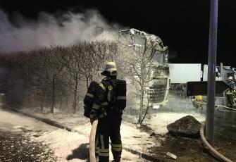 Niemcy – Kierowca z Polski znajdował się kabinie gdy wybuchł pożar – z poparzeniami trafił do szpitala 4