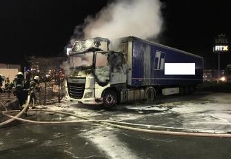 Niemcy – Kierowca z Polski znajdował się kabinie gdy wybuchł pożar – z poparzeniami trafił do szpitala 5