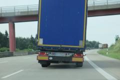 Niemcy - Polska ciężarówka - źle zabezpieczony ładunek 1