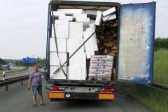 Niemcy - Polska ciężarówka - źle zabezpieczony ładunek 2