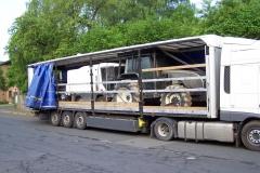 Z polskiej ciężarówki wystawał pickup 1