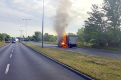 ITD pomogło przy płonącej ciężarówce 1