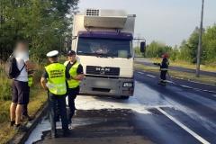 ITD pomogło przy płonącej ciężarówce 10