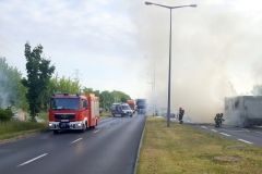ITD pomogło przy płonącej ciężarówce 3
