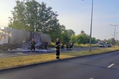 ITD pomogło przy płonącej ciężarówce 4