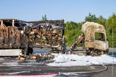Pożar ciężarówki z Polski 1