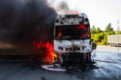 Pożar ciężarówki z Polski 10