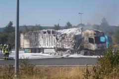 Pożar ciężarówki z Polski 11