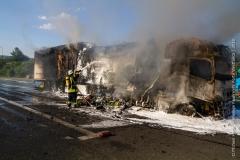 Pożar ciężarówki z Polski 2
