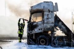 Pożar ciężarówki z Polski 3