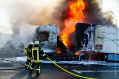 Pożar ciężarówki z Polski 4