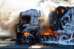 Pożar ciężarówki z Polski 5
