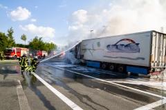 Pożar ciężarówki z Polski 6