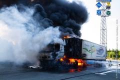 Pożar ciężarówki z Polski 7