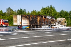 Pożar ciężarówki z Polski 8