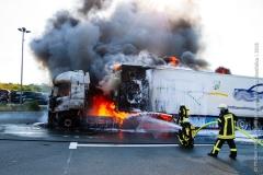 Pożar ciężarówki z Polski 9