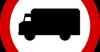 Zakaz jazdy pojazdy ciężarowe