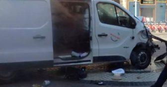 Zamach w barcelonie furgonetka