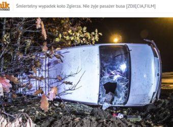 Śmiertelny Wypadek busa Zgierz