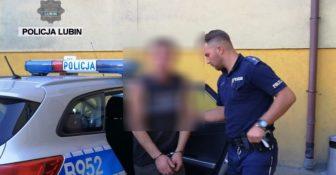 Policja interwencja lubin pijany kierowca 2