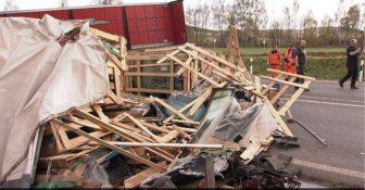 Wypadek Niemcy A7 Polska Cieżarówka
