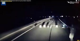Calais barykada