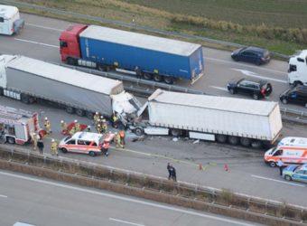 Wypadek polskiego kierowcy Magdeburg