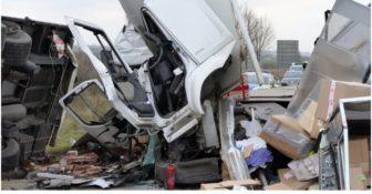 Wypadek Niemcy A38 Polska Ciężarówka
