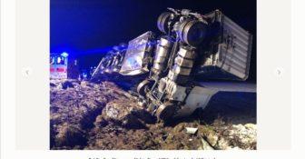 Wypadek Wiitstock a24 polski kierowca
