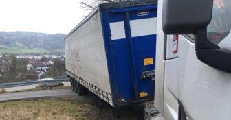Niemcy Polska Ciężarówka W błocie