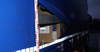 Niemcy z polskiej ciężarówki skradziono telewizory