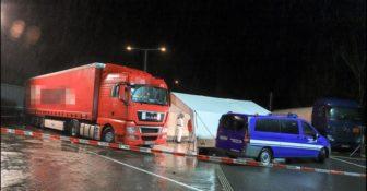 Niemcy zabójstwo kierowcy w kabinie