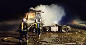 Pożar Ciągnik Siodłowy Barlinek