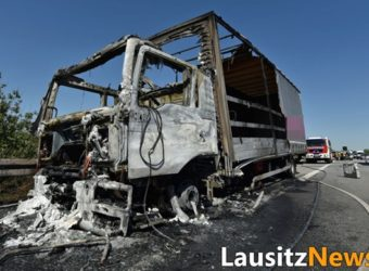 A4 Niemcy Spłonęła Polska Ciężarówka