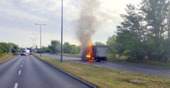 ITD pomogło przy płonącej ciężarówce