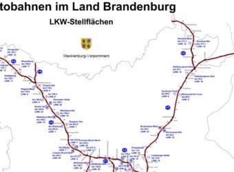 Autostrady Branderburgii Parkingi dla ciężarówek