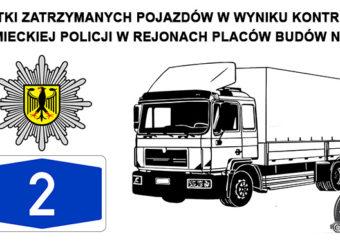 Niemcy – Policja – setki zatrzymanych pojazdów w wyniku kontroli w rejonach placów budów na A2