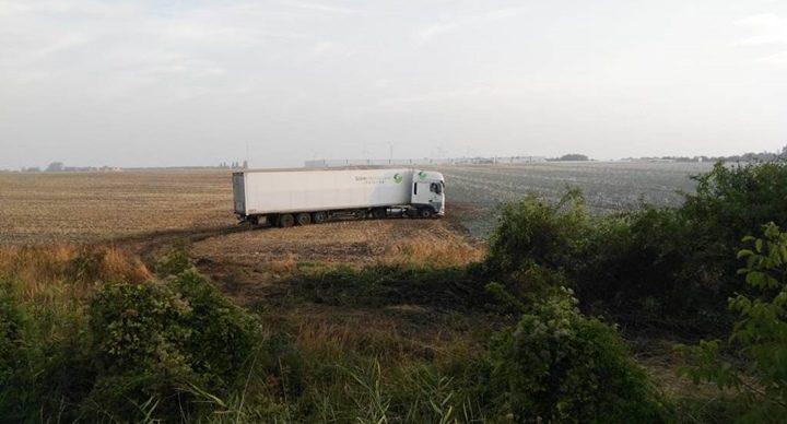Niemcy A2 - polska ciężarówka wyjechała w pole