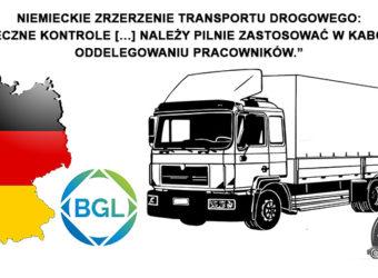 """BGL – """"skuteczne kontrole […] należy pilnie zastosować w kabotażu i oddelegowaniu pracowników."""""""
