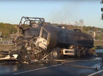Niemcy – cysterna z Polski spłonęła na A2 - kierowca poniósł śmierć na miejscu